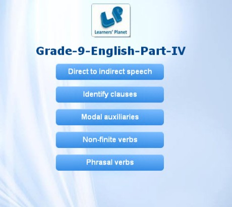 Grammar exercises for 9th cbse english students