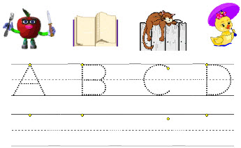 Printable worksheets on handwriting lower case alphabets