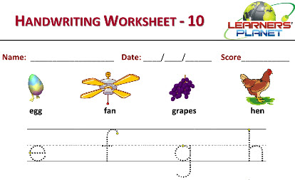 Handwriting capital alphabets worksheets for kids english practice