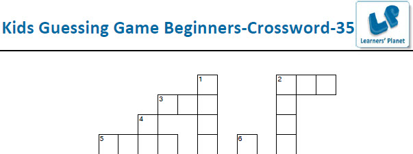 Kids online crossword puzzles worksheets