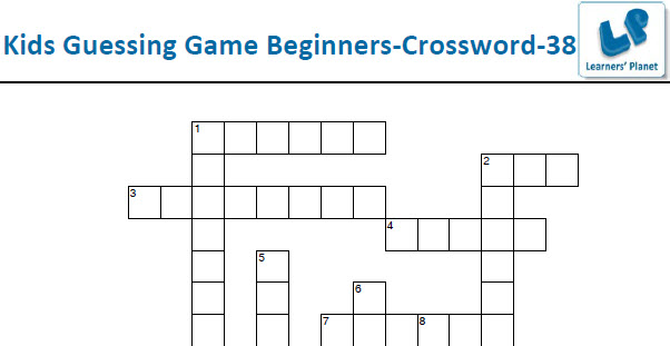Printable easy crossword worksheets puzzles for kids