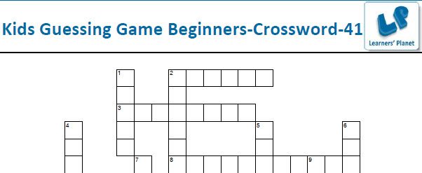 Kids general english crossword printable worksheets