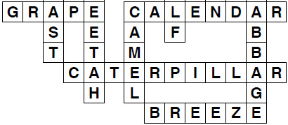 Kids guessing game crossword puzzles worksheets