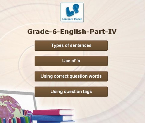 Interactive grammar of english for cbse 6th class kids