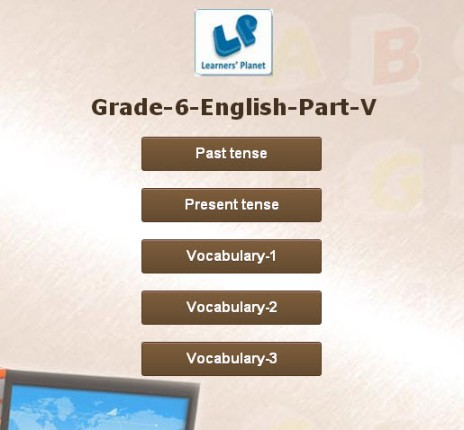 English interactive grammar exercises online for grade 6