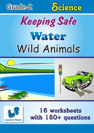 Keeping safe and water Worksheets on EVS for class 2