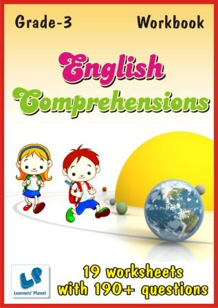 Comprehensions Worksheets on English for class 3 kids
