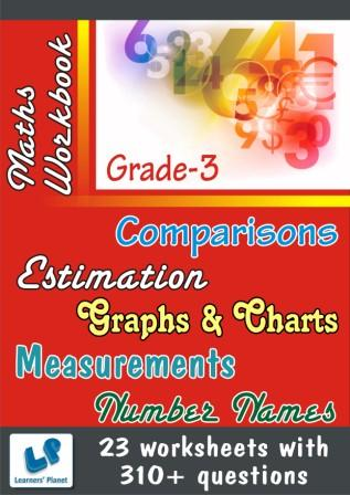 Maths Printable Worksheets on Comparisons and Estimation for class III kids