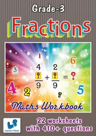 class 3 math worksheets on Fractions