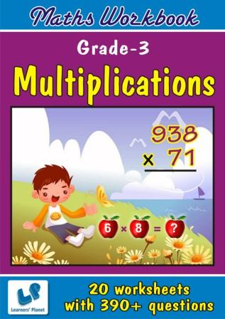 Multiplications practice Worksheet for class three