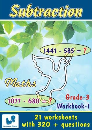 Subtraction worksheets in maths for class three kids
