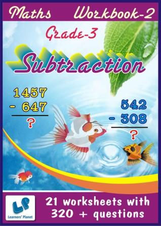Practice worksheets on maths for Subtraction