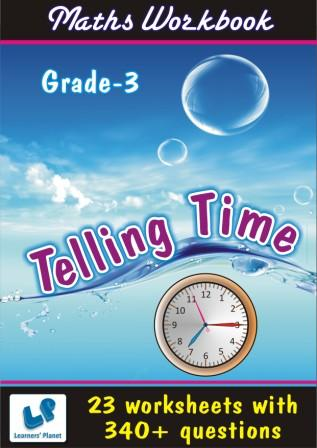 Online Printable worksheets on math for Telling Time