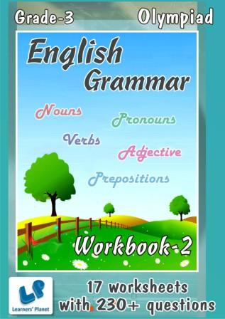 English Grammar Worksheets for class 3 olympiad kids