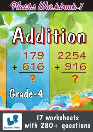 Math Practice worksheet on Addition for fourth graders