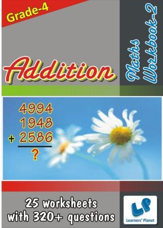 Addition Worksheets on maths for grade 4 kids