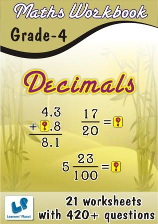 Online Printable worksheets on Decimals for class 4 students