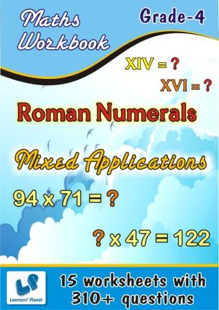 maths Roman Numerals and Mixed Bag Worksheets for grade 4 students