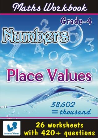 Numbers and Place Values Worksheets for class IV kids