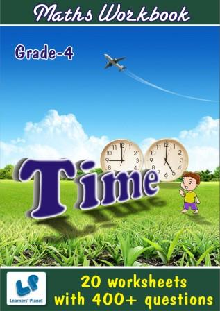 Maths practice worksheets on Time for 4th class kids