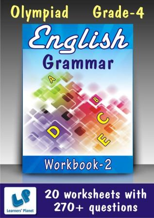 Practice worksheets on English Grammar for 4th Olympiad kids