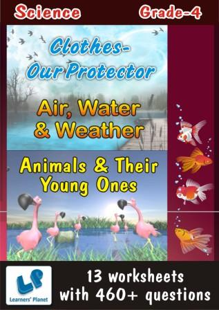 science worksheets for grade 4 on Air Water Weather