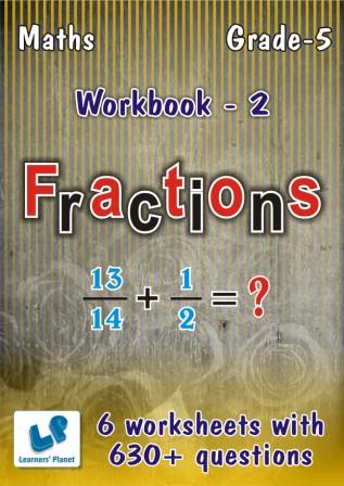 maths online practice worksheets on Fractions