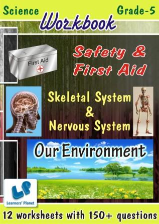 online practice questions and answers on science for our environment, safety & first aid and skeletal system & nervous system