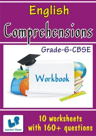 6-CBSE English Comprehensions Worksheets