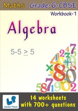 Maths Algebra Worksheets for 6 CBSE students