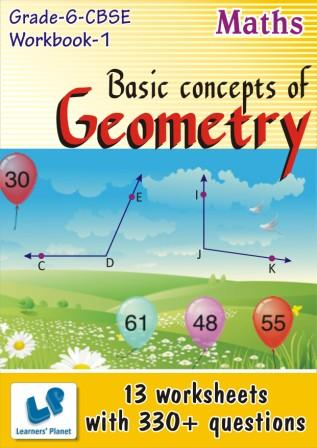 Basic concepts of Geometry Worksheets for grade 6 CBSE kids