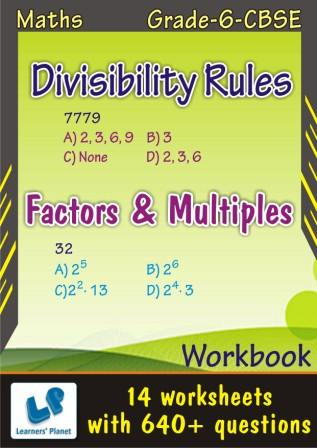 6 cbse Maths practice worksheets Divisibility Rules and Factors & Multiples