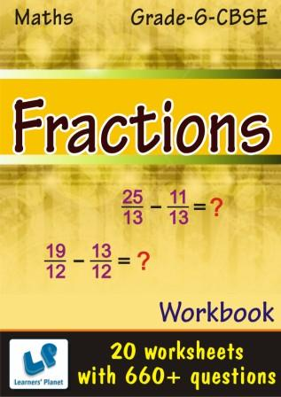 maths 6 CBSE Fractions Worksheets for kids
