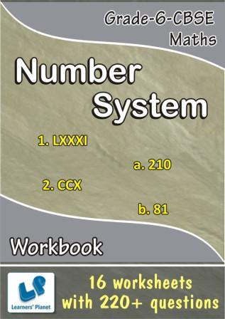 maths 6 CBSE online printable Worksheets Number System