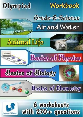 grade-6 Olympiad Science worksheets Air and Water, Animal Life worksheets