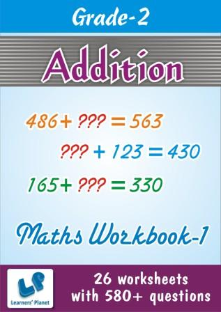 Addition Worksheets on maths grade two kids