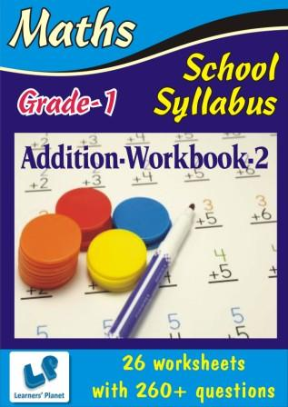 maths Printable Worksheets on Addition for grade one kids