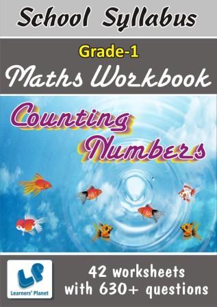 Counting Numbers worksheets for class 1 maths students