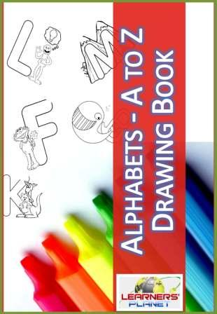 Drawing Book Alphabet worksheets for kids