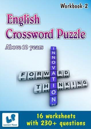 English Crossword Puzzle worksheets for Above 10 years
