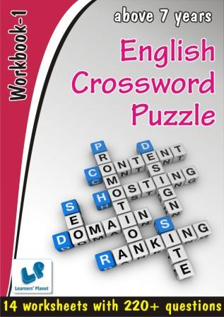 English Crossword Puzzle worksheet for Above 7 years kids