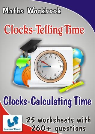 Maths Clocks Calculating Time Worksheets, Clocks Telling Time Worksheets