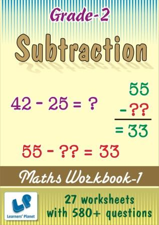 math worksheet on Subtraction for class 2 kids.