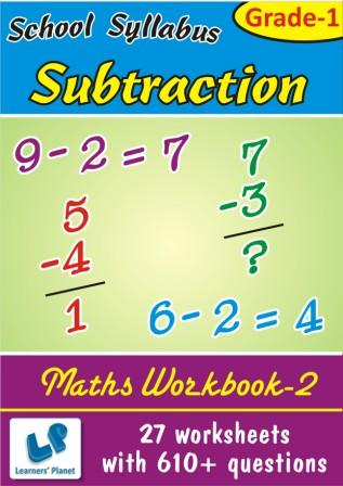Worksheets on Subtraction in horizontal and vertical form for class 1 kids