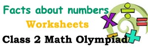 Facts about numbers kids maths worksheets