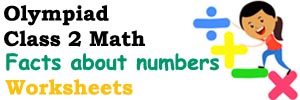 class ii math Facts about numbers worksheets