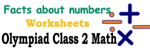 math Facts about numbers practice worksheets