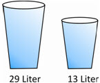 How much liquid is there in the two glasses