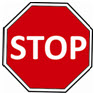 STOP sign represent