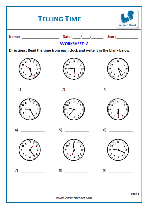 CBSE Class 4 Maths Revision Worksheet Time